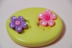 0055Flower Duo Silicone Rubber Flexible Food Safe by MasterMolds, $5.00