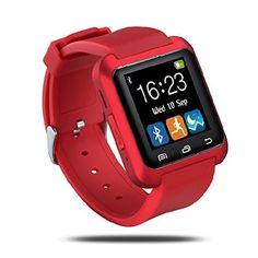 Netspower U80 Fitness y Actividad Rastreador Inteligente Bluetooth Touch Screen 4.0 Abrigo Reloj de Pulsera Teléfono Sportswatch Podómetro Ajuste Apto Smartphones Android IOS de Apple iPhone 5 / 5C / 5S / 6/ 6 Plus HTC LG SONY Samsung S4 / Note 2 ( Rojo ), http://www.amazon.es/dp/B0146A8I08/ref=cm_sw_r_pi_awdl_ks4ywb0CRJ0ZE