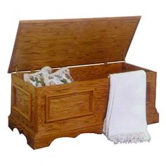 DIY Blanket Chest Plan - Yes I liked the basic plans but I changed how it was constructed. I used 45 cuts on the corners with bisquets. datdoed the bottom. Lined the inside with cedar and installed lid let downs as not to pinch little fingers.