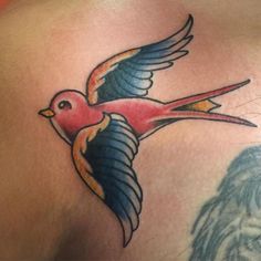 Sparrow tattoo. Sailor jerry style. - http://ift.tt/1HQJd81