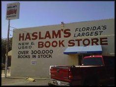 Haslam's Bookstore in St. Petersburg, FL. Oh what fun!