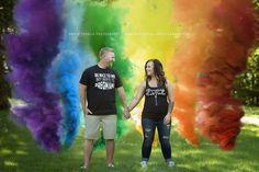 Pregnancy Announcement | Rainbow Baby | Fertility | IUI | Maternity | Smoke Bombs | Photography | Photo | Bricie Troglia Photography https://www.bricietrogliaphotography.com/