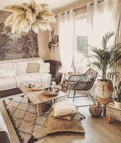 Boho Living Room, Living Room Decor, Bedroom Decor, Modern Bedroom, Deco Boheme Chic, Deco Studio, Bohemian Furniture, Budget Home Decorating, Home And Deco