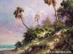 """Casperson Shore."" Scene of Casperson Beach, Venice Florida by Art Fronckowiak"