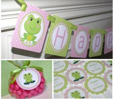 Frog Birthday Party Frog Party Theme Girl by PartyPaperPrintables