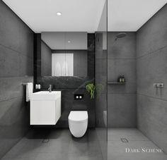 BOURKE AND PHILLIP, WATERLOO: DARK BATHROOM