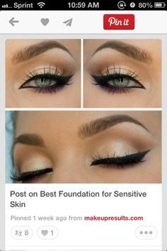 beautiful Cat eye makeup