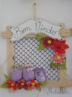 Sewing Projects, Projects To Try, Name Banners, Fabric Birds, Love Sewing, Crafty Craft, Flower Crafts, Christmas Stockings, Decoupage