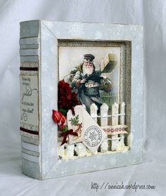 Shadowbox made with Pion Design papers.
