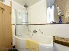 Bathroom - Wall-mounted, shower ,Bathtub ,Sink, Towel, heater, Toilet, Hair dryer ,Towels provided Bathroom Towels, Bathroom Wall, Towel Heater, London Apartment, Furnished Apartment, Barbican, Bathtub Shower, One Bedroom Apartment, Private Garden