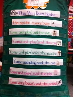 S for the very busy Spider. Word Wall activity.