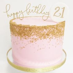 Sparkle + Gold + Pink…the perfect birthday cake! Topper by Littlecatdesig… – … - Birthday Cake Blue Ideen 13th Birthday Cake For Girls, Birthday Cake For Women Simple, 22nd Birthday Cakes, 21st Birthday Cake Toppers, Sweet 16 Birthday Cake, Gold Birthday Cake, 21st Cake, Birthday Ideas, Simple Birthday Cakes