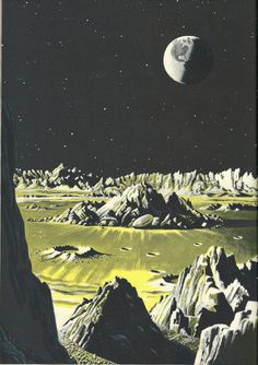 Space Book vintage 1950's Exploring the Moon  by TheIDconnection, $40.00
