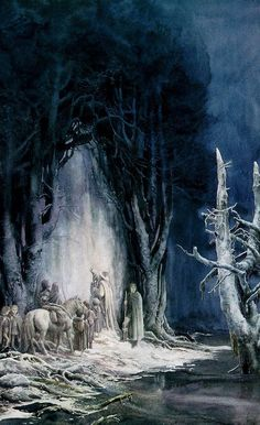 The West Gate of Durin by Alan Lee: