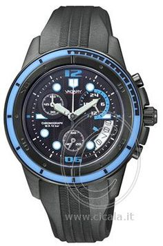 6866ceda7d350 Black watch with stainless steel case. For a real black look! Vagary  Chronograph