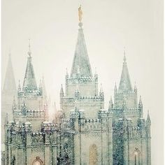 One of the most gorgeous pictures of the Salt Lake LDS temple ever. At first I saw this, and I was like, oo, that's a pretty castle.