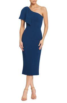 3b2ded4dddde2 Dress the Population Tiffany One-Shoulder Midi Dress | Nordstrom