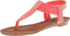 Madden Girl Women's Tanduum Thong Sandal,Coral Fabric,6 M US Madden Girl,http://www.amazon.com/dp/B009NX6ACM/ref=cm_sw_r_pi_dp_y7nZsb1ZVS2QSTH1