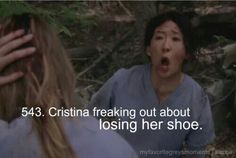 Grey's Anatomy/ yeah.....cause she was in a plane crash!!