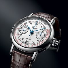 The Longines Pulsometer Chronograph : doctor's watch Modern Watches, Luxury Watches, Watches For Men, Vintage Watches, Brand Name Watches, Breitling, Longines, Seiko, Patek Philippe