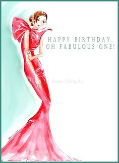 Happy Birthday from Josephine - Whimsical Fashion-Inspired Illustration by Joana Miranda Happy Birthday Quotes, Happy Birthday Images, Happy Birthday Greetings, Birthday Messages, Birthday Pins, It's Your Birthday, Birthday Memes, Birthday Banners, Birthday Stuff