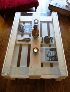 Pallet Coffee/display Table Glass