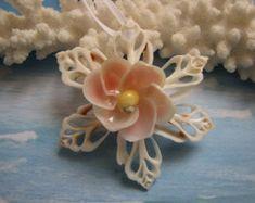 Seashell Ornament, Beach Decor Christmas Ornament, Shell Ornament, Nautical Ornament, Star Ornament, Beach Wedding Ornament, Coastal Decor