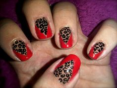 leopard print is my favourite nail art design