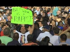 Hillary PANICS! Screams At 'Bill Clinton Rape' Protester! (Fort Lauderdale) - YouTube