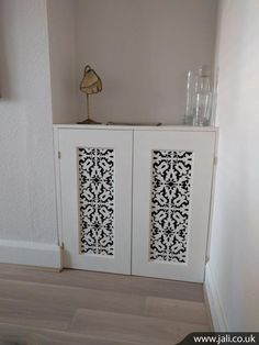 Picture 368 This cupboard was designed to fill an alcove space. The fretwork in the door panels shown is 2152.
