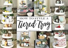 How To Style a Tiered Tray - Crisp Collective How To Style a Ti. - How To Style a Tiered Tray – Crisp Collective How To Style a Tiered Tray – Cri - Joanna Gaines, Galvanized Tiered Tray, Galvanized Tray Centerpieces, Farmhouse Table Centerpieces, Kitchen Centerpiece, Kitchen Decorations, Kitchen Tray, Kitchen Ideas, Tray Styling