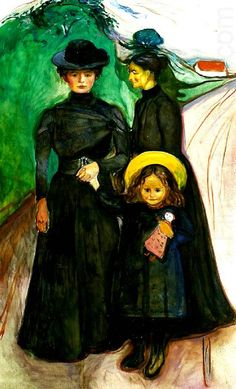 Edvard Munch (Norwegian 1863–1944) [Expressionism, Symbolism] The Book Family, 1901.