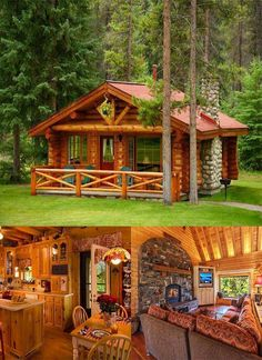40 Log Cabins · 40 Log Cabins · Get more photo about subject related with by l. - Log cabin homes - Diy Log Cabin, How To Build A Log Cabin, Log Cabin Living, Small Log Cabin, Log Cabin Kits, Log Cabin Homes, Log Cabins, Building A Log Cabin, Small Log Homes