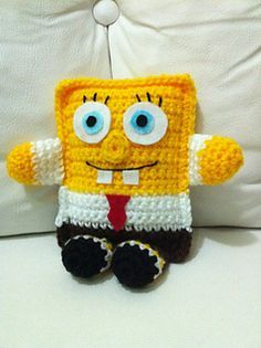Bob Sponge Little Pillow ~ free pattern