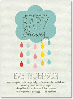 Drip Drop Shower - Baby Shower Invitations in Reef | Ann Kelle