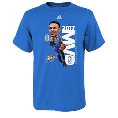 Boys 8-20 Adidas Oklahoma City Thunder Russell Westbrook League MVP Tee, Size: Xl(18/20), Blue
