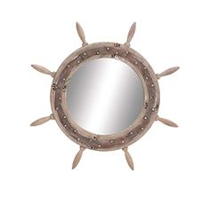 Deco 79 Wood Ship Wheel Mirror, 29-Inch >>> Want to know more, click on the image. (This is an affiliate link and I receive a commission for the sales)