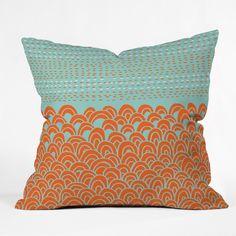 Budi Kwan The Infinite Tidal Light Blue Outdoor Throw Pillow