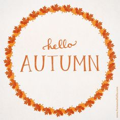 AHHHHH OMG guys!! Autumn is almost here!!