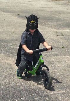 In a study, 9 out of 10 superheros prefer Strider bikes!   Strider April 2016 Calendar Contest entry.