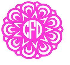 Mandala Monogram Decal by PeachPerfectDesign on Etsy