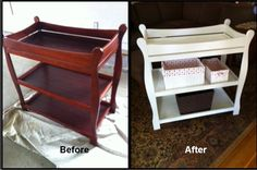 Bought this changing table off Craig's List mad refinished with ASCP pure white.