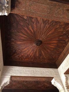 Beautiful ceilings in Generalife Granada, Spain