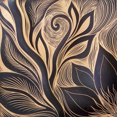 Nature inspired hand carved ceramic tiles from Natalie Blake Studios