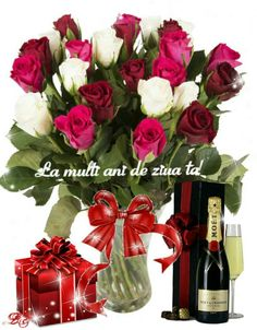 La mulți ani ! Cristina Good Morning Roses, Birthday Cards, Happy Birthday, Birthdays, Art Deco, Display, Table Decorations, Flowers, Hip Bones
