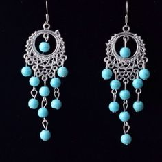 Turquoise earrings New. No trades Jewelry Earrings