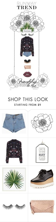 """""""Folk Print"""" by fashion-frugavore ❤ liked on Polyvore featuring Needle & Thread, Parlane, Pottery Barn, STELLA McCARTNEY, Huda Beauty, Ampere Creations and Lime Crime"""