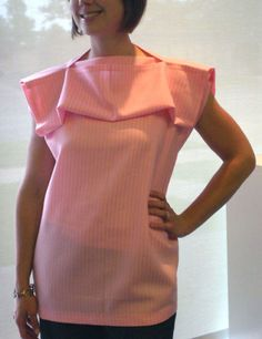 Using just two same-size rectangles of fabric, you can create this simple tunic.