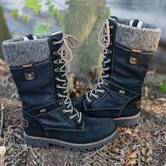 2019 New Military Boots Cotton Lace Up Women's Snow Boots Flat Heel Boots, Shoes Heels Boots, Heeled Boots, Mid Calf Boots, Knee Boots, Combat Boots, Snow Boots Women, Martin Boots, Boots For Sale