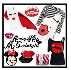 """""""SAY IT WITH A KISS"""" by carolsha on Polyvore featuring art"""